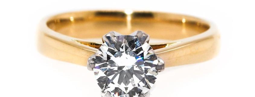 One Carat Solitaire Diamond Ring